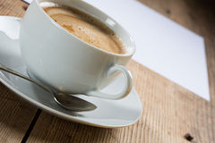 Cup of coffee with foam Stock Images