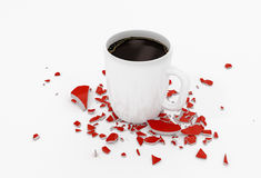Cup of Coffee Full of Energy Royalty Free Stock Images