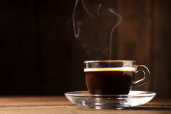 Cup of coffee with fume Stock Photo