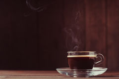 Cup of coffee with fume Royalty Free Stock Photo