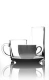 Cup of coffee and glass Royalty Free Stock Photo