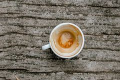 A cup of coffee is gone. royalty free stock image