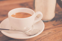 A cup of coffee. A cup of coffee for good morning.Drinking a morning cup of coffee.Daily routine Royalty Free Stock Photo