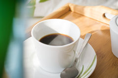Cup of coffee. A cup of coffee for good morning.Drinking a morning cup of coffee.Daily routine.Holding a cup of coffee Royalty Free Stock Images