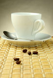Cup of coffee on gradient Stock Photography