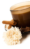 A cup of coffee and grated chocolate Stock Photo
