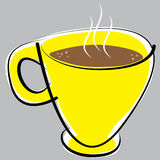 Cup of coffee on gray background Royalty Free Stock Image