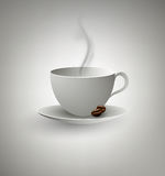 Cup Of Coffee On A Gray Background. Abstract Cup Of Coffee On A Gray Background Royalty Free Stock Photo