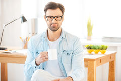 Cup of coffee for great ideas. Stock Photography