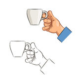 Cup of coffee in hand Royalty Free Stock Photo
