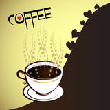 Cup of coffee with heart Royalty Free Stock Photography
