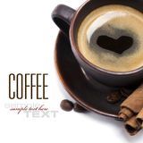 Cup Of Coffee With Heart Stock Image