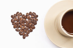 Cup of coffee with heart Royalty Free Stock Images