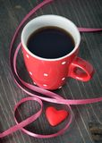 Cup of coffee and heart Stock Photo