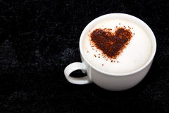 Cup of coffee with heart shape Royalty Free Stock Photos