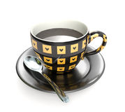 Cup of coffee heart Royalty Free Stock Photography