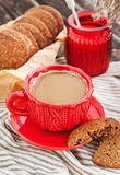 Cup of coffee and homemade cookies Royalty Free Stock Photo