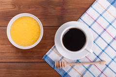 Cup of coffee and honey Royalty Free Stock Photos