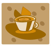 Cup of coffee. A hot cup of coffee stock illustration