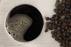Cup of coffee. Cup of hot black coffee drink royalty free stock photos