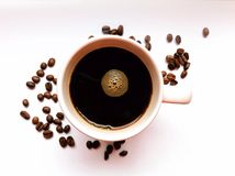 Cup of Coffee. A cup of hot fresh coffee Stock Photography
