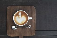 A cup of coffee Hot Latte royalty free stock photography