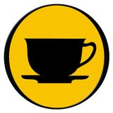 Cup of coffee - icon. Vector illustration of a coffee cup icon stock illustration