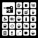 Cup and coffee  icon set Stock Photography