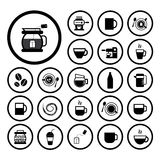 Cup and coffee  icon set Stock Photo