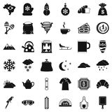 Cup of coffee icons set, simple style Stock Photo