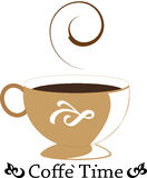 Cup of coffee illustration Royalty Free Stock Images