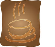Cup of coffee illustration Stock Images