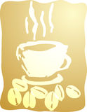 Cup of coffee illustration Stock Photography