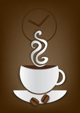 Coffe time illustration Royalty Free Stock Images