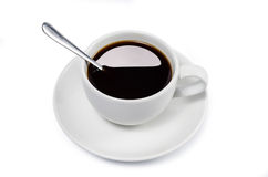 Cup of coffee isolate with clipping path Royalty Free Stock Photo