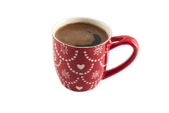 Cup of coffee. On  an isolated background Royalty Free Stock Images