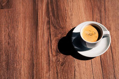 Cup of coffee. Isolated on a background a tree Stock Photography