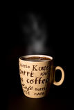Cup of coffee isolated on black Stock Photography