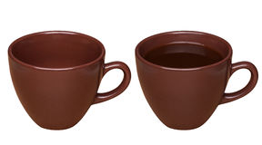 Cup of coffee, isolated with clipping path Stock Photography