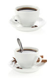 Cup of coffee isolated on white Royalty Free Stock Photo