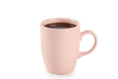 Cup of coffee isolated on a white Royalty Free Stock Photo