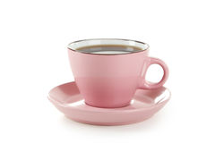 Cup of coffee isolated on a white Stock Image