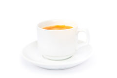 Cup coffee. Isolated on a white background Royalty Free Stock Photography