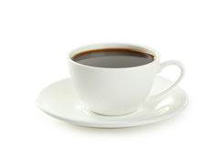 Cup of coffee isolated on white background Stock Photo