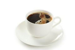 Cup of coffee isolated on white background Stock Photography