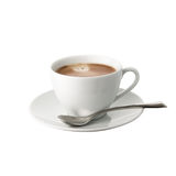 Cup of coffee isolated on white background. Vanilla cup of coffee isolated on white background Royalty Free Stock Photo