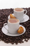 Cup of coffee. And italian biscuit Royalty Free Stock Images