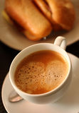 Cup of coffee,Italian Cappuccino, Delicious Coffee Drink Royalty Free Stock Images
