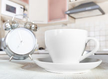 Cup of coffee in a kitchen Stock Image