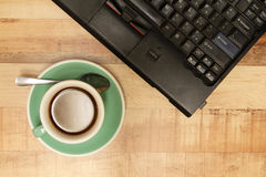 Cup of  coffee with laptop - Series 2 Stock Photos